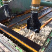 Cyclone for fine sand recovery on dredger, plant Nobitz