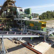 Modification decarburisation gravel, plant Rees